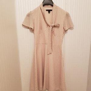Maggy London Polka Dot Cream Dress Size 2